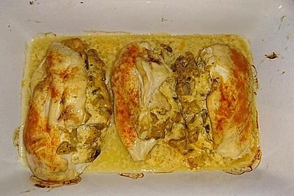 Mit Champignons gefüllte Hähnchenbrust 1