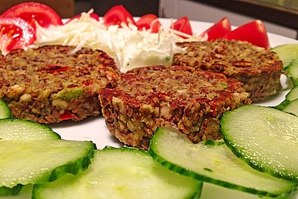 Avocado-Burger vegan (mit Rohkostoption)