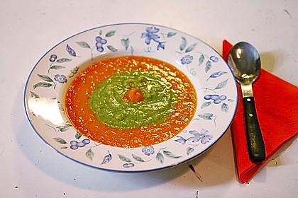 Brokkoli-Möhren-Suppe mit Ingwer