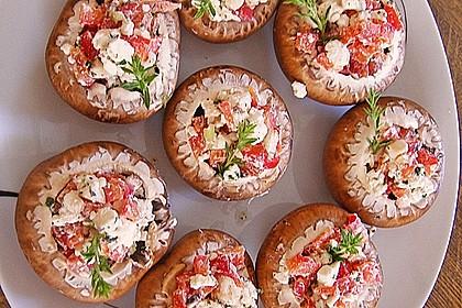 Champignons gefüllt mit Feta