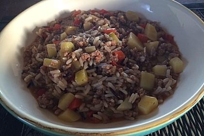 Hackfleisch-Gemüse-Reispfanne 1