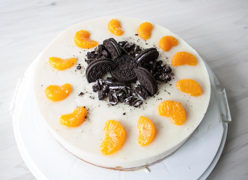Vegane Mini-Prosecco-Mousse-Torte mit Mandarinen von ...