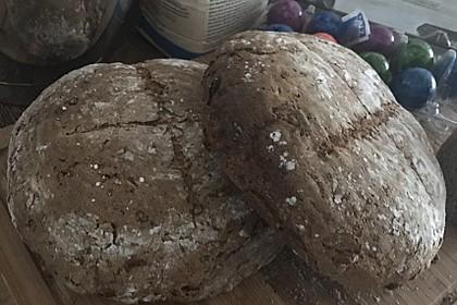 Großes Roggen-Dinkel-Mischbrot mit Sauerteig und Vollkorn 1
