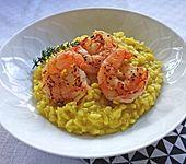 Risotto milanese mit Crevetten (Bild)