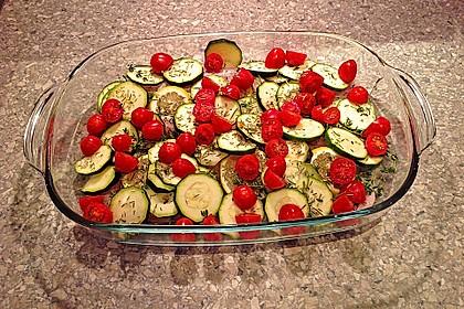 Viktoriabarschfilet mit mediterranem Gemüse