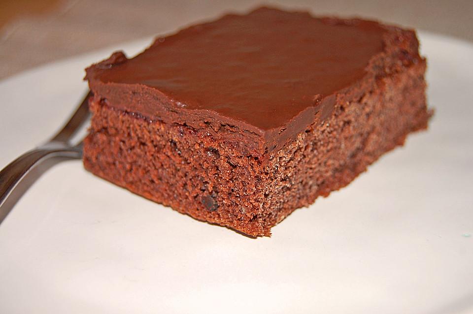 schokoladenkuchen blech mit schokolade
