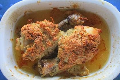 Hähnchenkeulen paniert aus dem Ofen