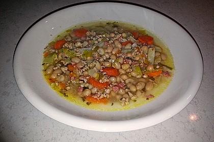 Schnelle weiße Bohnensuppe