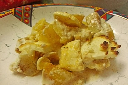 Kartoffel-Blumenkohl-Auflauf mit Feta und Hähnchen 1