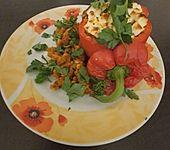 Gefüllte Paprika mit Currylinsen (Bild)
