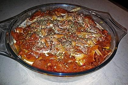 Spinat mit Gyros überbacken 1