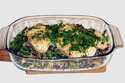 Überbackenes Hähnchenfilet auf Rosenkohl 16