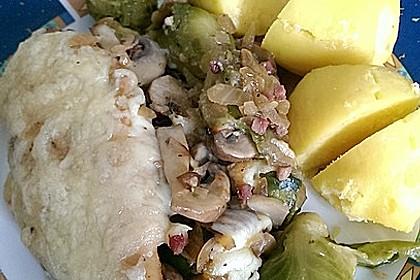 Überbackenes Hähnchenfilet auf Rosenkohl 27