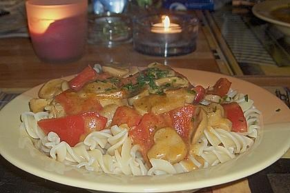Vollkornnudeln mit Paprika-Pilz-Sauce 5