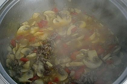 Vollkornnudeln mit Paprika-Pilz-Sauce 11
