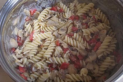 Vollkornnudeln mit Paprika-Pilz-Sauce 9