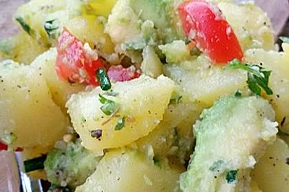 Kartoffel - Avocado Salat mit Kresse (Bild)