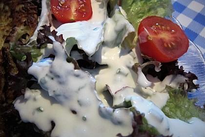 Blattsalat mit Dressing 5