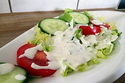 Blattsalat mit Dressing 7
