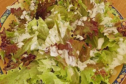 Blattsalat mit Dressing 9