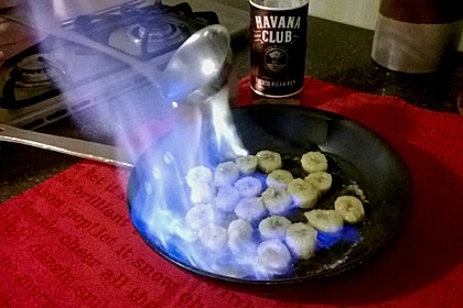 Flambierte Bananen
