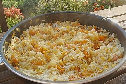 Exotische Reispfanne mit Ananas, Shrimps und Mangochutney 7