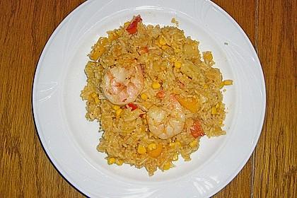 Exotische Reispfanne mit Ananas, Shrimps und Mangochutney 8