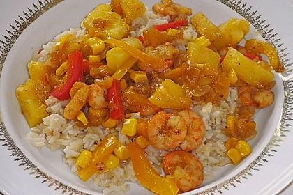 Exotische Reispfanne mit Ananas, Shrimps und Mangochutney 6