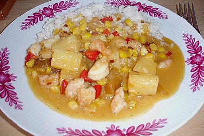 Exotische Reispfanne mit Ananas, Shrimps und Mangochutney 15