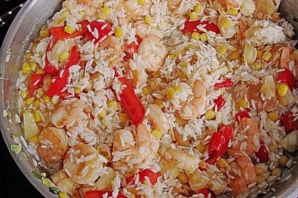 Exotische Reispfanne mit Ananas, Shrimps und Mangochutney 2
