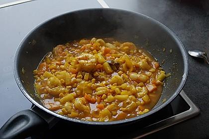 Exotische Reispfanne mit Ananas, Shrimps und Mangochutney 10