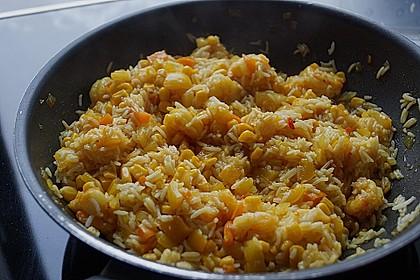 Exotische Reispfanne mit Ananas, Shrimps und Mangochutney 5