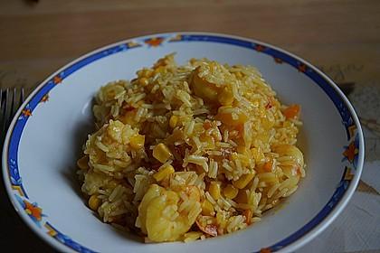 Exotische Reispfanne mit Ananas, Shrimps und Mangochutney 3