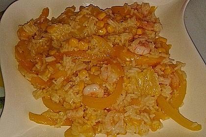 Exotische Reispfanne mit Ananas, Shrimps und Mangochutney 13