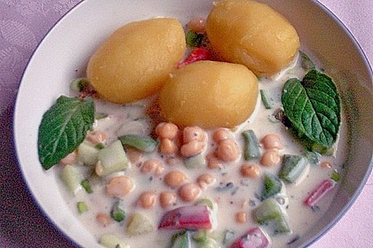 Kichererbsen in Joghurtsoße 4