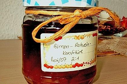 Birnen - Rotwein Konfitüre 8