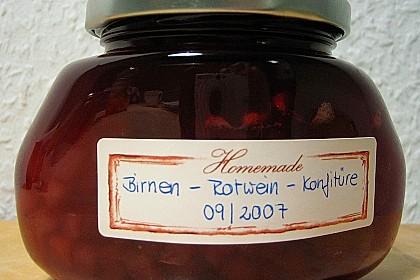 Birnen - Rotwein Konfitüre 6