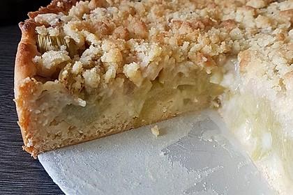 Rhabarber - Streusel Kuchen auf Quark - Öl Teig 26
