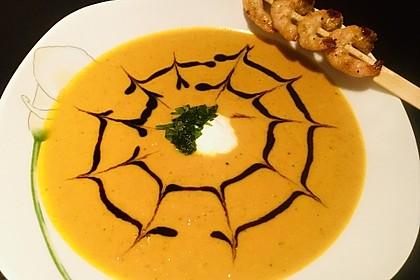 Kürbissuppe mit Ingwer und Kokosmilch (Bild)