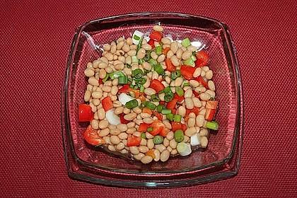 Salat von weißen Bohnen und Paprika 4