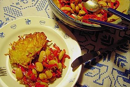 Salat von weißen Bohnen und Paprika 2