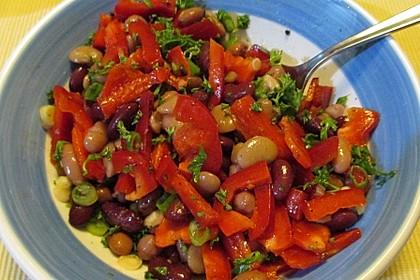 Salat von weißen Bohnen und Paprika 1