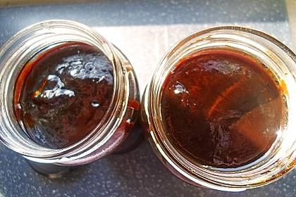 Pflaumenmus aus Trockenpflaumen - ergibt 2 Gläser à ca. knapp 400 ml