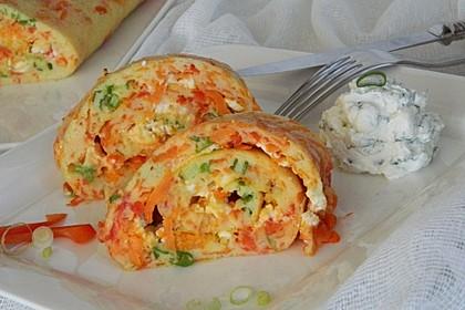 Ofenpfannkuchen mit Gemüse und Feta 4