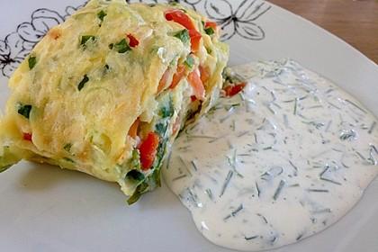 Ofenpfannkuchen mit Gemüse und Feta 15