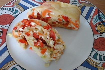 Ofenpfannkuchen mit Gemüse und Feta 46
