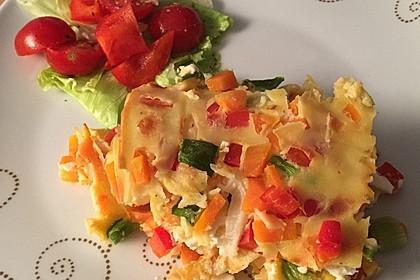 Ofenpfannkuchen mit Gemüse und Feta 33
