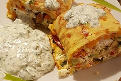 Ofenpfannkuchen mit Gemüse und Feta 23