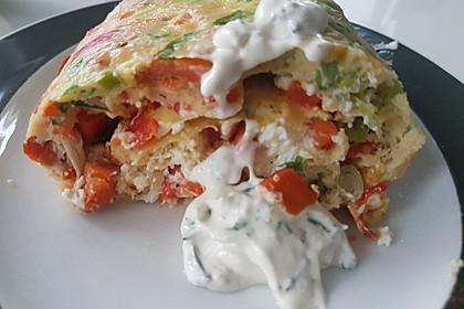 Ofenpfannkuchen mit Gemüse und Feta 35
