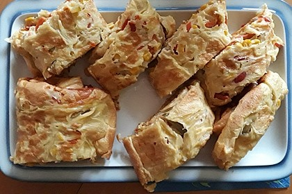 Ofenpfannkuchen mit Gemüse und Feta 55